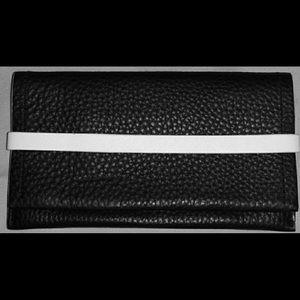 COACH edge Phone case/wallet cross grain leather